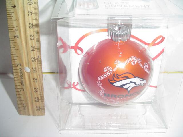 Denver Broncos Orange Christmas tree Ornament NFL Rd 2 5/8 ...