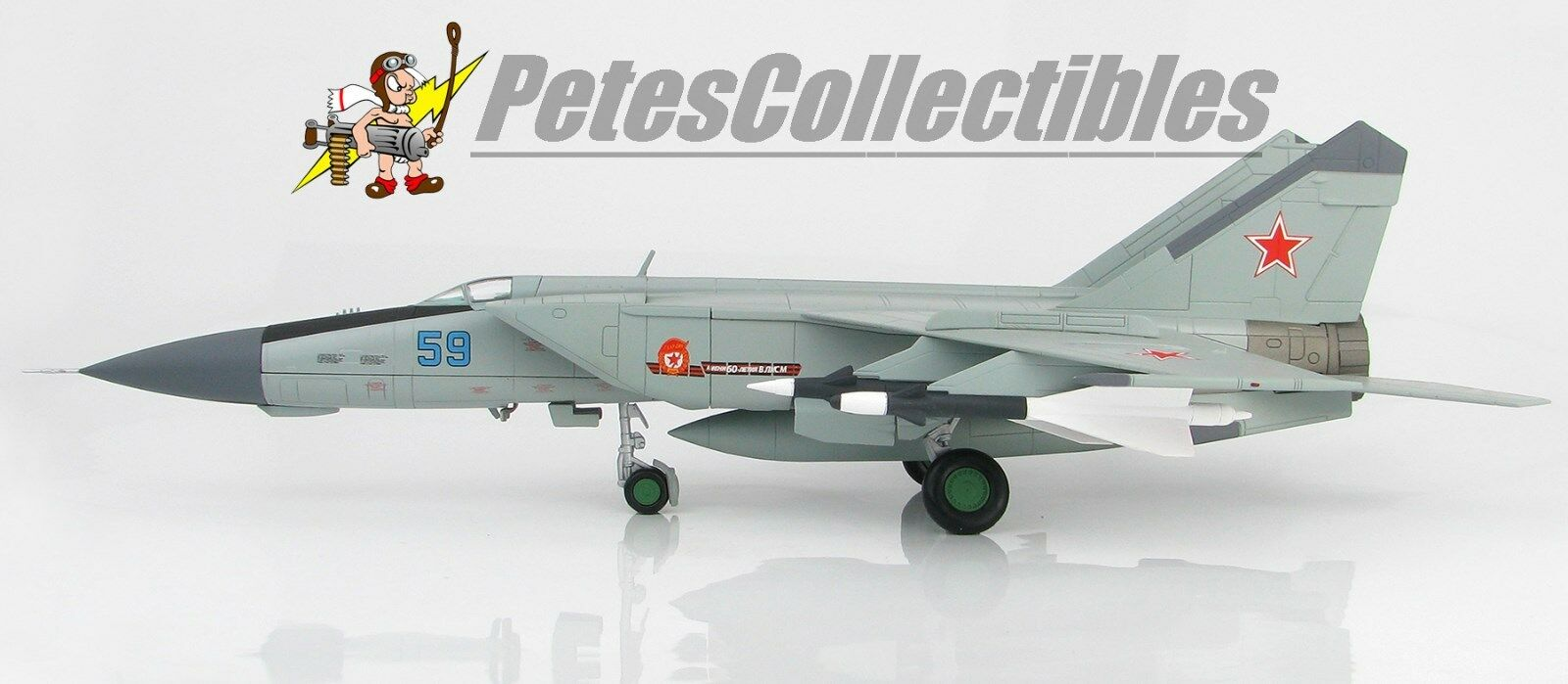 HOBBY MASTER HA5604 MIG-25PDS Foxbat Fighter bluee 59 146th GvIAP 8th USSR A.D.A.