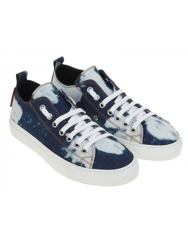 DSQUARED² denim SNEAKERS  男鞋 MEN'S shoes 紳士靴 100%AUT g7sus