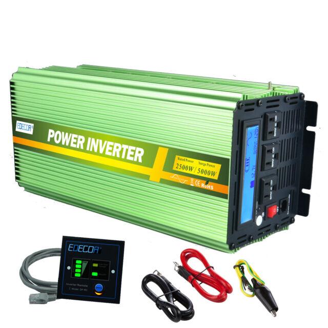 Edecoa 2500w 5000 watt power inverter pure sine wave 12v dc to 120v edecoa 2500w 5000 watt power inverter pure sine wave 12v dc to 120v ac lcd rv publicscrutiny Gallery