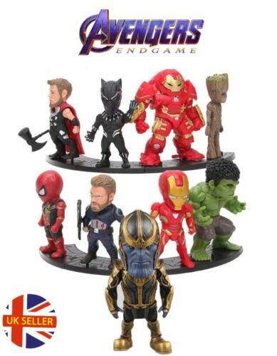 Avengers 9 Figure Set End Game Infinity Thanos Iron Man Cake Topper UK Seller