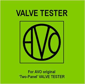 Details about The Avo - Two Panel - Valve Tester Manual - DVD - Tube on hose tester, inverter tester, corevalve compression tester, air filter tester, line tester, block tester, backflow tester, vacuum tester, cable tester, lamp tester, fuse tester, electronic ignition tester,