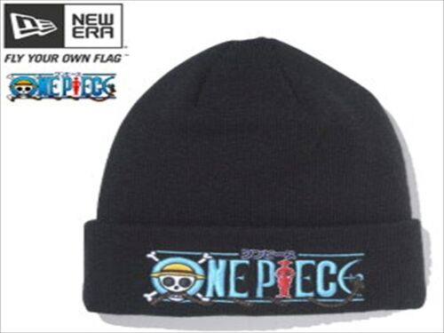 One Piece × New Era Cuff Knit One Piece Knit Cap Noir//Bleu//du Japon
