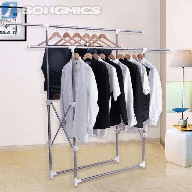 Neu Faltbar Kleiderständer Wäscheständer Kleiderstange Garderobenständer LLR501