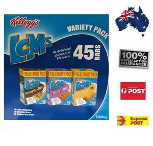 LCMS-Variety-Pack-45-Bars-Kellogg-039-s-Bundle-Sweet-Snack-Home-Kids-Fun-FREE-POST