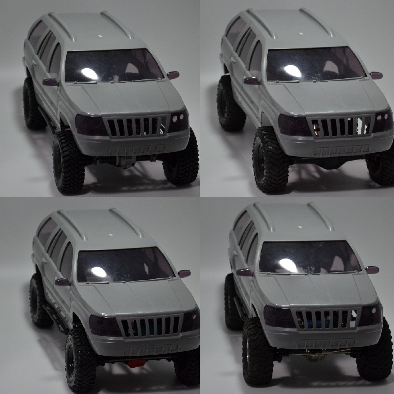 Jeep WJ grand Cherokee 1 9 Crawler Hard Body  313mm WB HPI Traxxas Axial Gmade