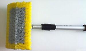 WASH-BRUSH-amp-WATER-FED-POLE-15-034-Bi-Level-Wash-Brush-165cm-Pole