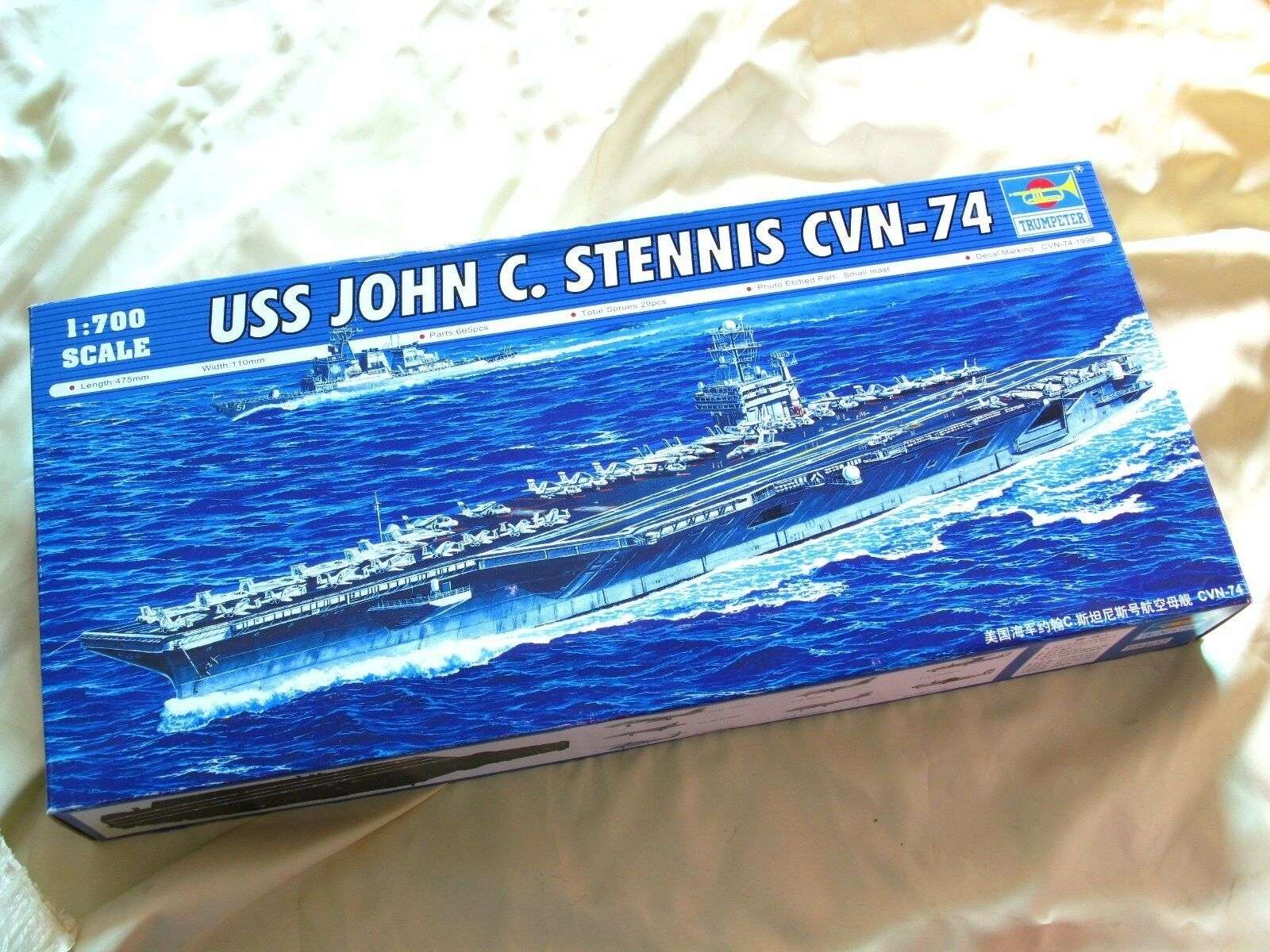 05733 Trumpeter 1 700 Model USS John C. Stennis CVN-74 Aircraft Carrier Static