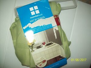 Essential-Home-Green-Microfiber-Square-Tablecloth-Westport-NEW-Wipes-Clean