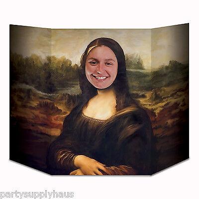 ITALY Leonardo da Vinci MONA LISA PHOTO PROP World Party Decoration RENAISSANCE