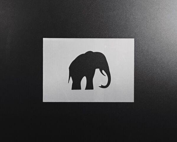 Pintura aerógrafo de plantilla de Elefante Arte Animal De Artesanía Hogar Decoración pared Hazlo tú mismo Reutilizable