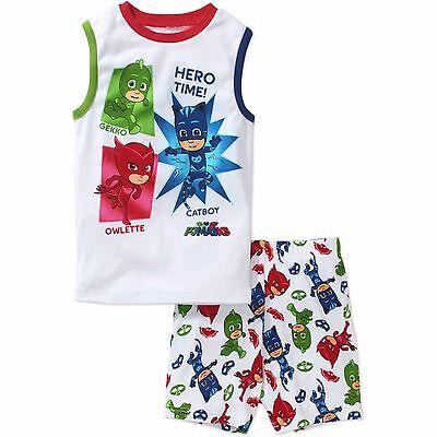 PJ Masks Boys 4-Piece Cotton Pajama Set Size 4 6 8 10 $48