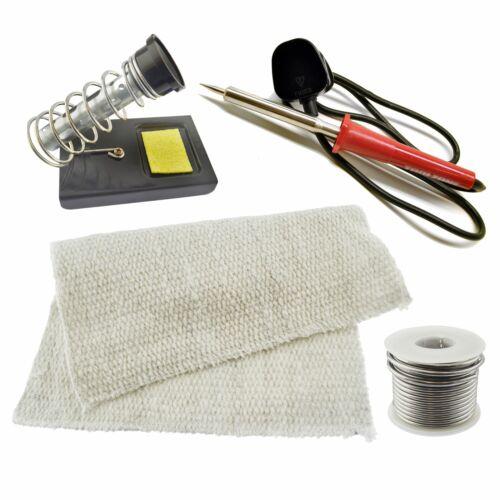 Fer à Souder Kit Electric Solder Stand Base Flux fil de Protection Mat 230 V