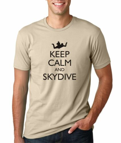 Hot4TShirts Keep Calm and Skydive Funny T-shirt for Men