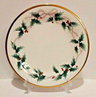 """Mikasa Ribbon Holly Christmas China Salad Plate One 8 1//4"""" Plate."""