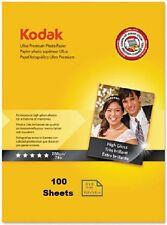 KODAK ULTRA PREMIUM PHOTO PAPER HIGH GLOSS 100 SHEETS 4x6 74 Lb