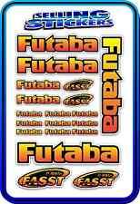 FUTABA SERVO RADIO RX TX 2.4G FLIGHT REMOTE CONTROL STICKERS FASST RED YELLOW B