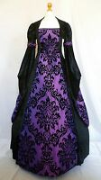 Medieval Goth Dress Renaissance Pagan Wedding Gown Whitby Custom Made To Size