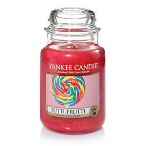 ☆☆TUTTI FRUTTI☆☆ LARGE YANKEE CANDLE JAR☆☆ FREE SHIPPING☆☆GREAT SCENT