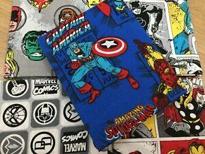 DC-Marvel-Comic-Captain-America100-Cotton-FQ-Bundle-5-Fabrics-Craft-Quilting