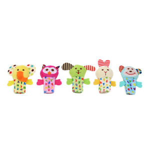 Finger Puppets Cloth Doll Baby Educational Hand Cartoon Animal Toy Sets gifts