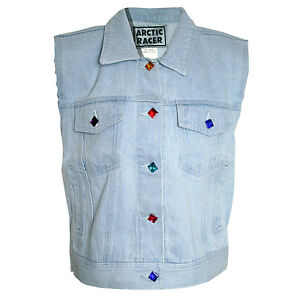 BLOGGER-HIPSTER-RETRO-URBAN-Gr-32-34-VINTAGE-Jeansweste-Jeans-Denim-WESTE-BLAU
