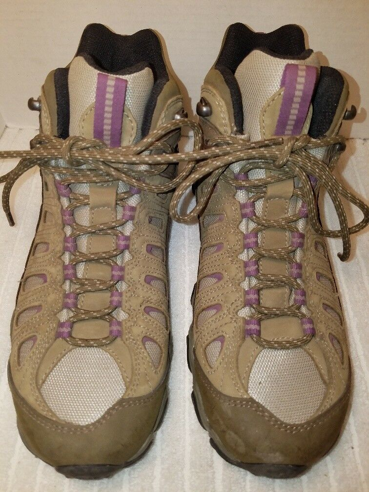 Oboz Womens Sawtooth BDRY Mid Hiking Boots shoes Sz purple