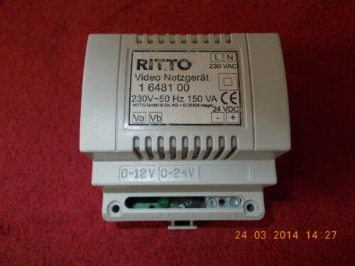 RITTO 16481 00 VIDEO NETZGERÄT für Wohntelefonanlage mit Kamera,geprüft,100/% OK