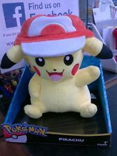 Pokemon Tomy T18981 Pikachu with Ash Cap Hat plush soft toy new