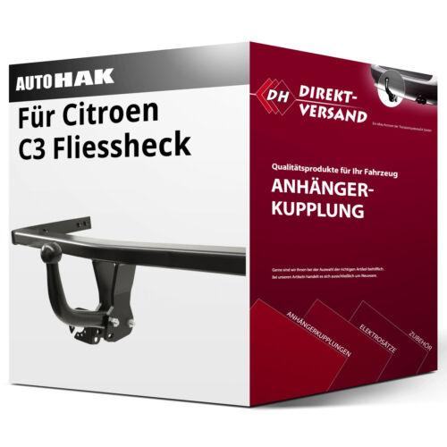 Anhängerkupplung starr neu Auto Hak Für Citroen C3 Fliessheck II