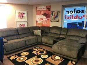 Fabric Reclining Sectional With Chaise ONLY $2299 @ RICHI COLLECTION Edmonton Area Preview