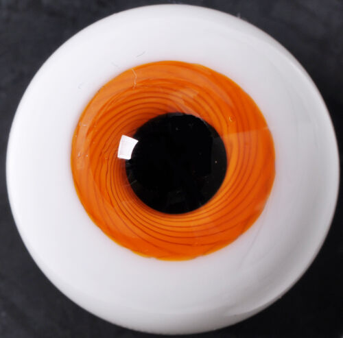 18MM Orange with Lines Glass BJD Eyes for DOD DZ AOD Volks Reborn Doll luts
