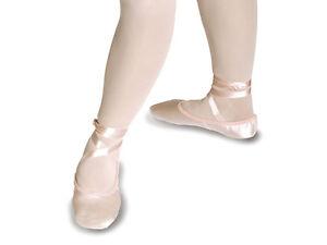 Zapatos De Ballet Satén Cinta Rosa/Marfil Danza/Dama de honor
