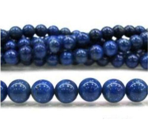 "New Natural 10mm Blue Egyptian Lazuli Lapis Gemstone Loose Beads 15/"""