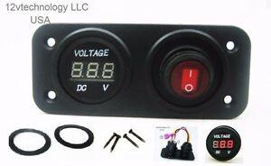 12V-Solar-Panel-Wind-Generator-Voltmeter-Monitor-RV-Marine-House-Switch