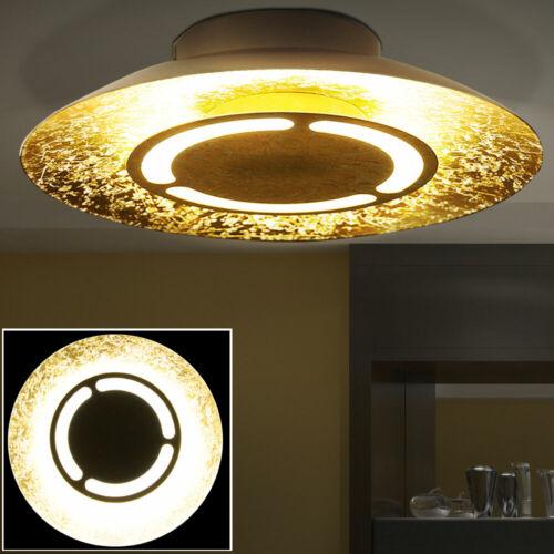 LED 6 Watt Deckenleuchte Lampe Wohnzimmer Durchmesser 21,5 cm Gold Beleuchtung