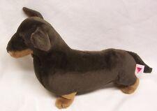 """Dakin NICE DARK BROWN DACHSHUND WEINER DOG 15"""" Plush STUFFED ANIMAL Toy"""
