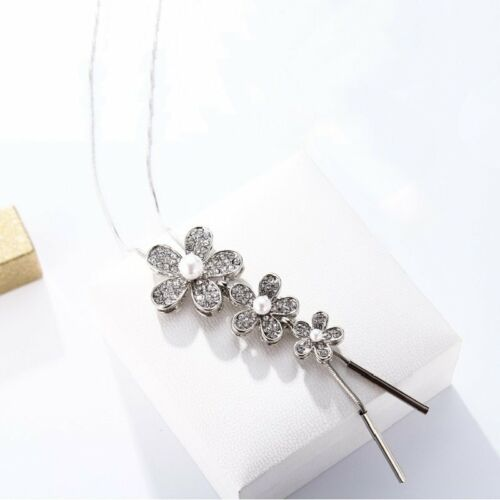 Pearl Crystal Leaves Flowers Multilayer Pendant Necklace Chain Women Jewelry Hot