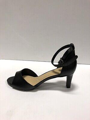 Fe ciega Desarmamiento sátira  Clarks Laureti Grace Womens Pump Ankle Strap Heels Black Leather 7.5 M    eBay