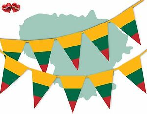 Lithuania-Full-Flag-Patriotic-Themed-Bunting-Banner-15-Triangle-flags