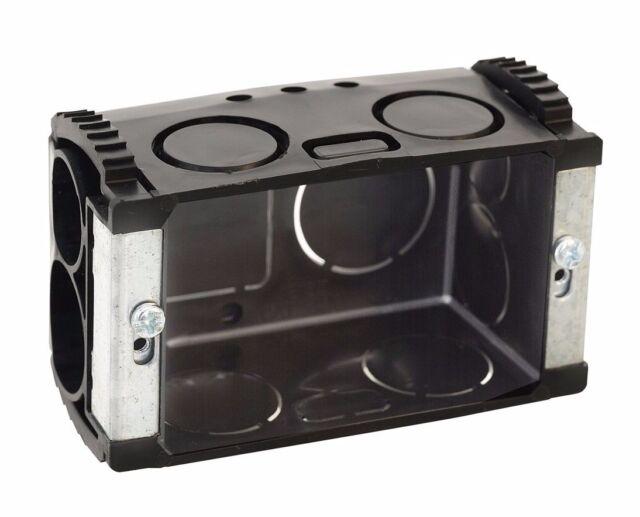 HPM STANDARD WALL JUNCTION BOX w/ Sliding Nuts Plastic Black 97x67x40mm- 2pcs
