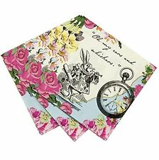 Pack Of 20 Talking Tables Truly Alice Dainty Party Napkins (TSALICE-CNAPKIN)