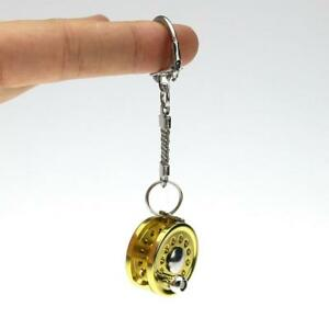 Fishing-Reel-Key-Chain-Miniature-Novelty-Ring-Fly-Keychain-Keyring-Metal-Gift