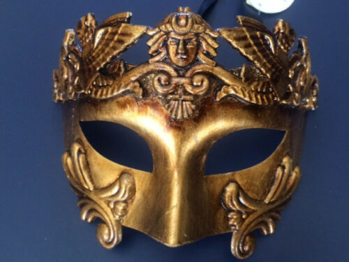 Gold Roman Greek Emperor Venetian Masquerade Mardi Ball Custome Party Mask Men