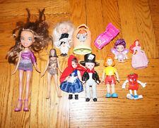 x11 ACTION FIGURE LOT Girls Bratz Doll MADAM ALEXANDER Mcdonalds LPS Disney Toys
