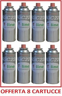 BOMBOLETTA CARTUCCIA CARTUCCE GAS DA 250 GR  PER FORNELLO BISTRO ** 24 PEZZI **