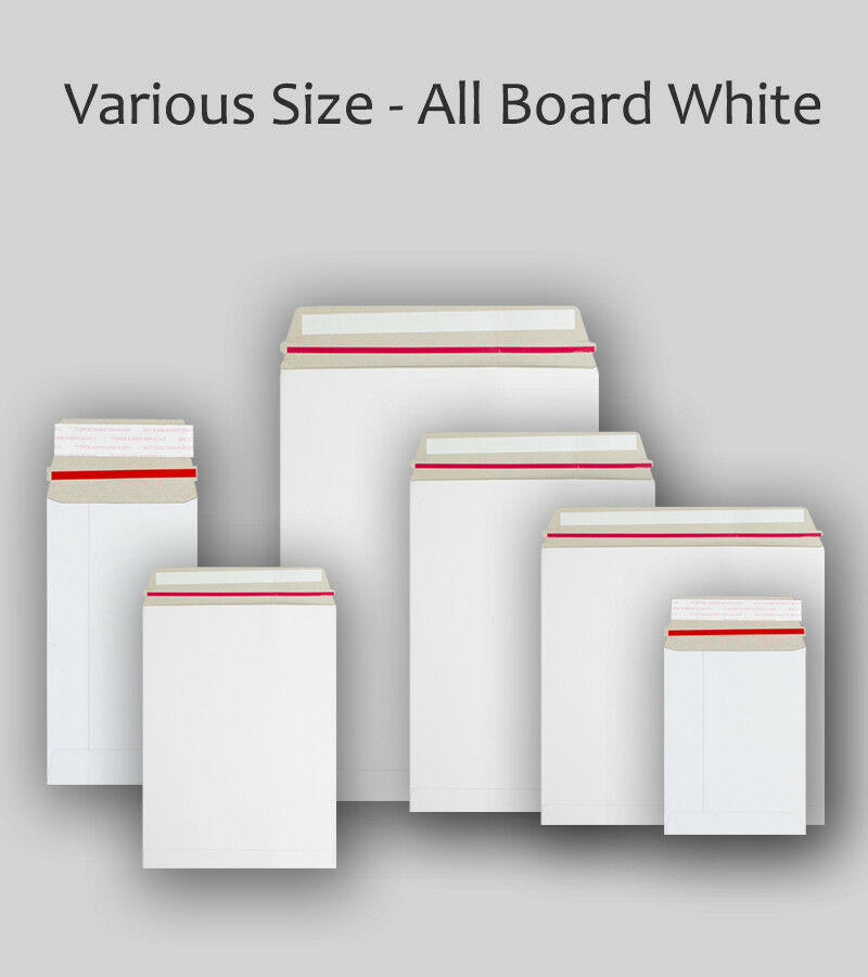 Strong C3 C4 C5 Quality White All Board Calendar Card Envelopes Peel&Seal Mailer