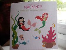 Handmade Personalised Mermaid Birthday Card 5th, 6th, 7th, 8th Sister Daughter