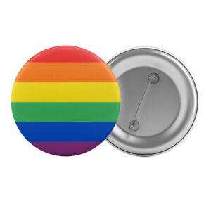 Gay-Pride-Rainbow-Flag-Badge-Button-Pin-1-25-034-32mm-LGBT-Lesbian-Queer