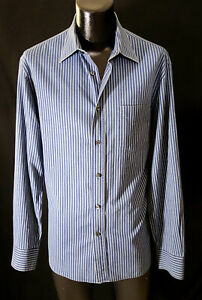 Canali-Shirt-L-17-37-Cool-Stripes